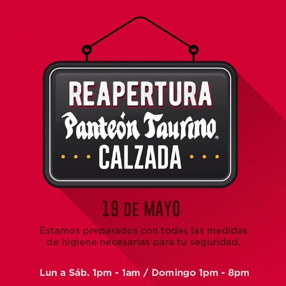 ¡Panteón Taurino Calzada te espera a partir de este 19 de mayo!